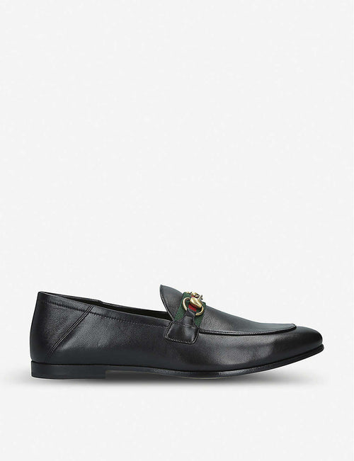 Brixton collapsible leather loafers