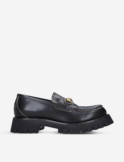 Django Commander leather platform loafers