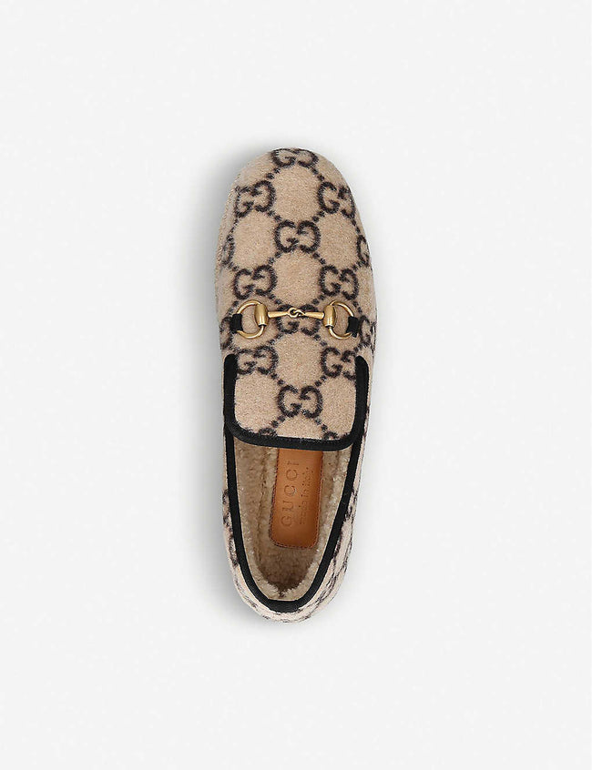 Logo-print wool loafers