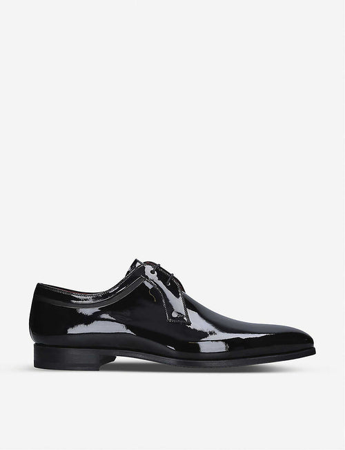 Evening Derby patent leather shoes