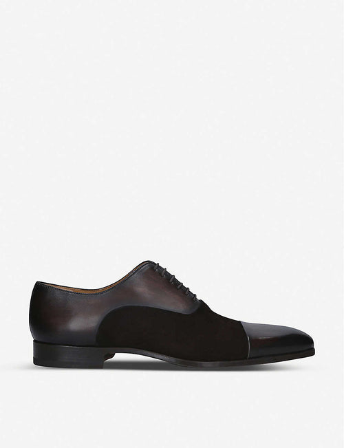 Toecap Oxford leather shoes