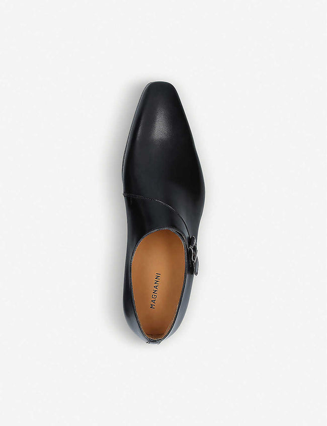 Efren leather monk-strap shoes