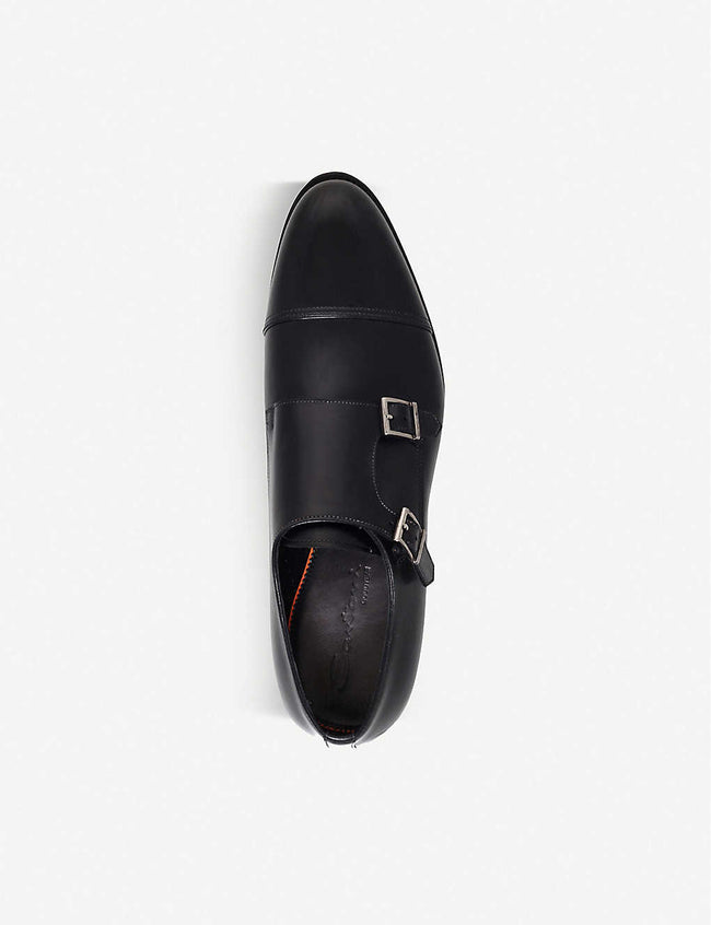 Wilson leather monk shoes
