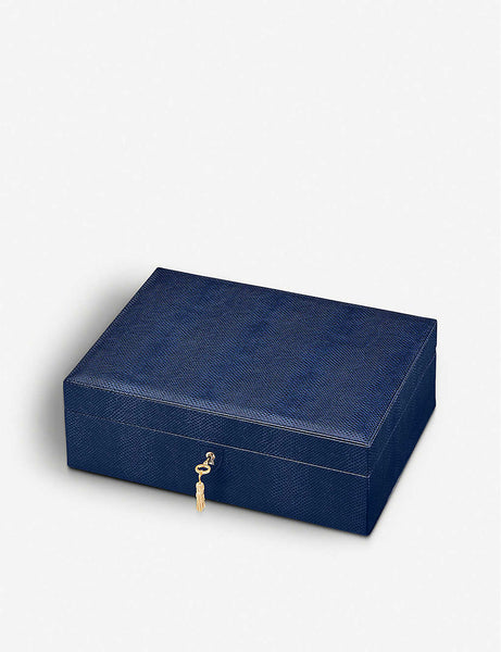Grand Luxe leather jewellery box