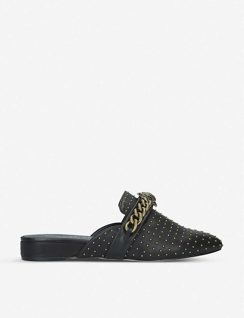 Chelsea stud-embellished leather mules