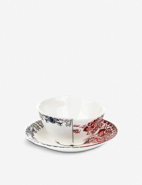 Zora Hybrid porcelain teacup and saucer