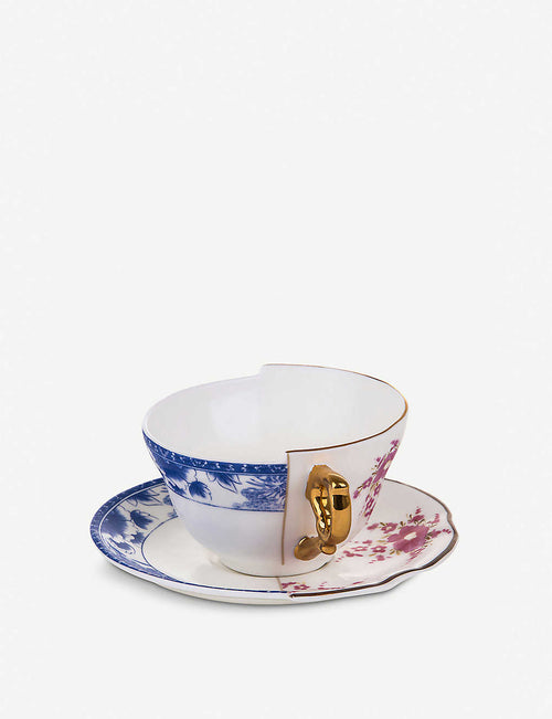Zenobia Hybrid porcelain teacup and saucer