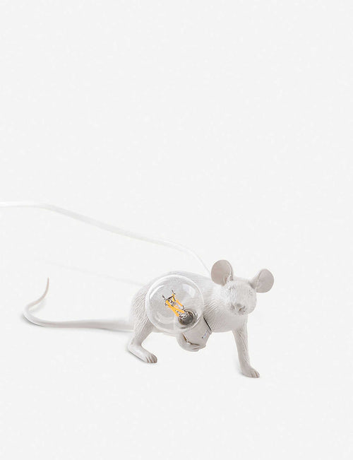 Running mouse resin lamp 21cm