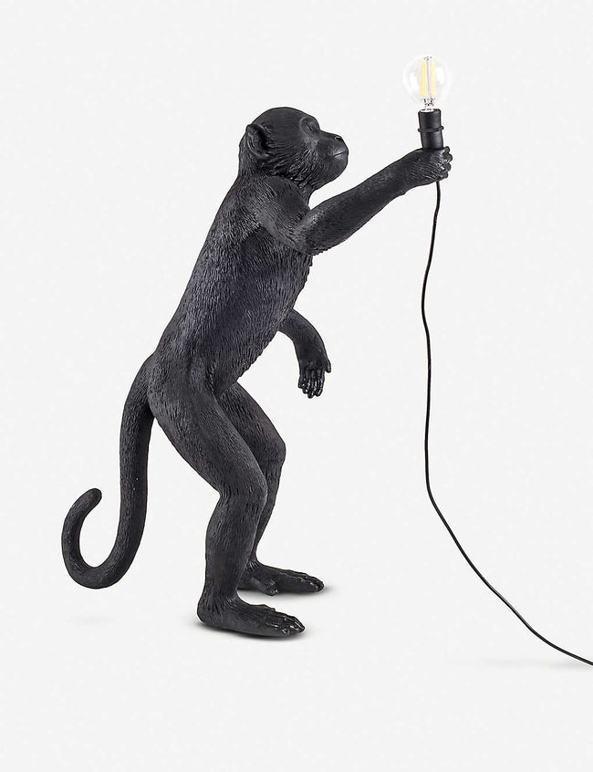 Standing monkey resin lamp 54cm