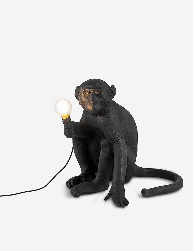 Sitting monkey resin outdoor lamp 42cm