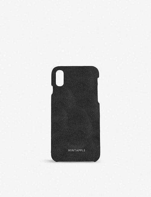 iPhone X suede case