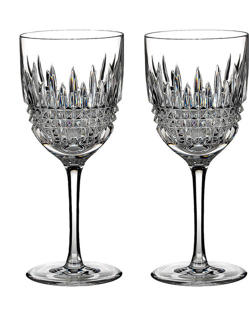 Lismore Diamond red wine glasses set of two