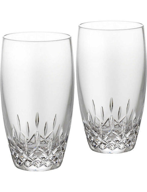 Lismore Essence pair of crystal highball tumblers
