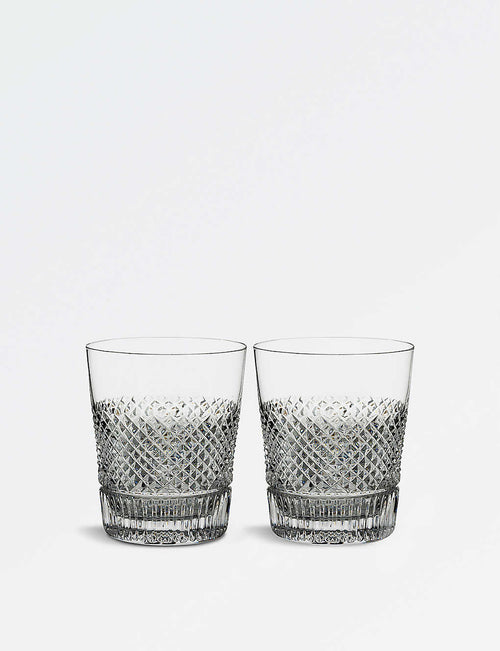 Diamond Line Double Old Fashioned crystal glasses 290ml set of two