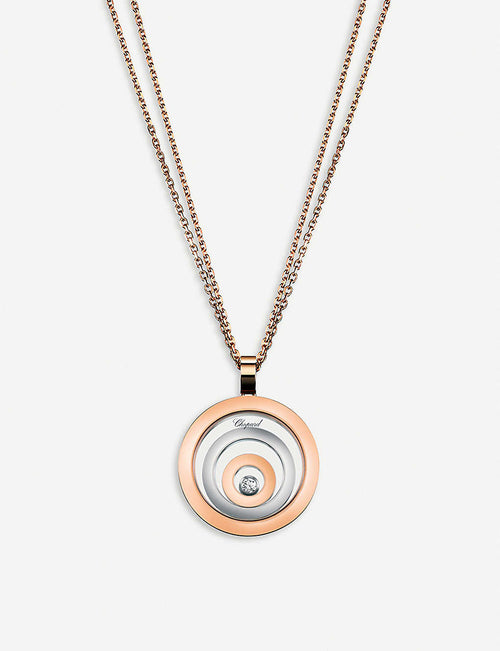 Happy Spirit 18ct rose-gold, white-gold and diamond pendant