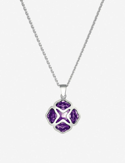 IMPERIALE white-gold and amethyst pendant necklace