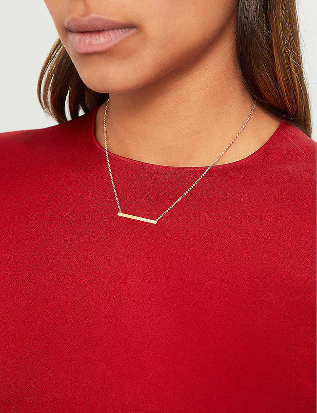 Ice Cube Pure 18ct yellow-gold and diamond necklace