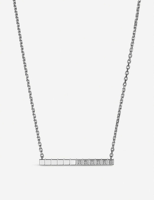 Ice Cube Pure 18ct white-gold and diamond necklace
