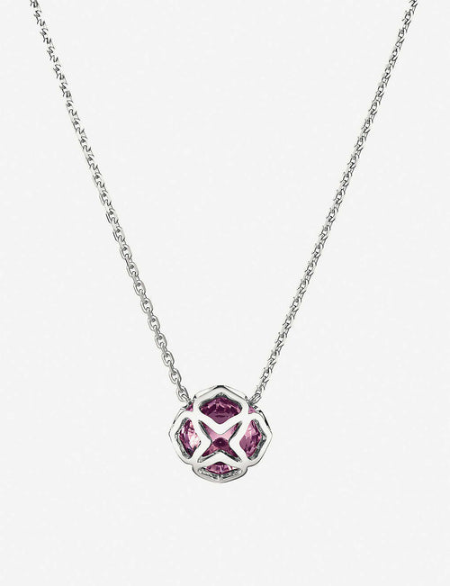 IMPERIALE 18ct white-gold and amythest necklace