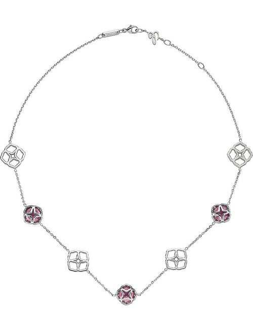 IMPERIALE 18ct white-gold and amethyst necklace
