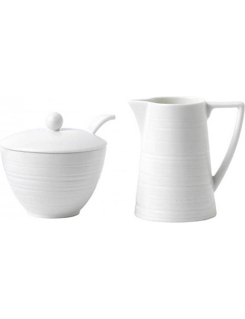 Strata bone china cream and sugar set