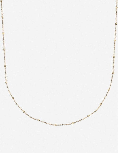 18ct yellow-gold vermeil chain necklace
