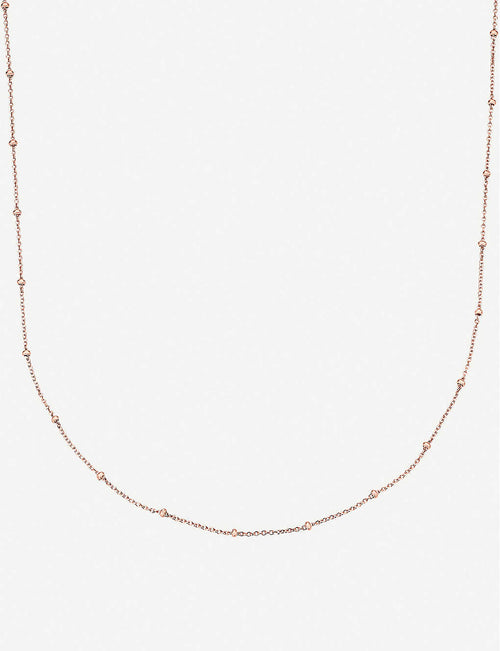 18ct rose-gold vermeil chain necklace