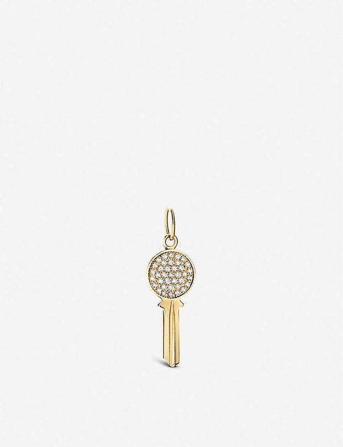Modern Keys 18ct yellow-gold and diamond pendant