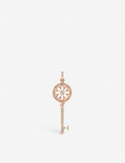 Tiffany Keys Daisy Key 18ct rose-gold and diamond pendant