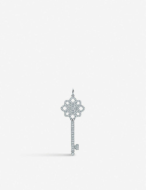 Tiffany Keys platinum and diamond woven key pendant