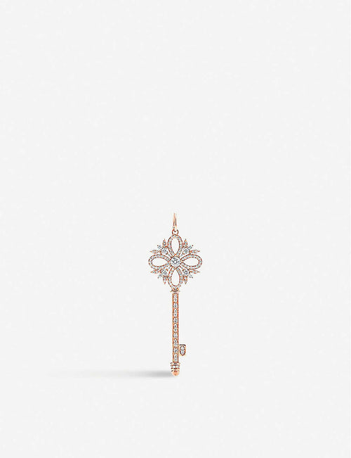 Victoria Key 18ct rose-gold and diamond pendant
