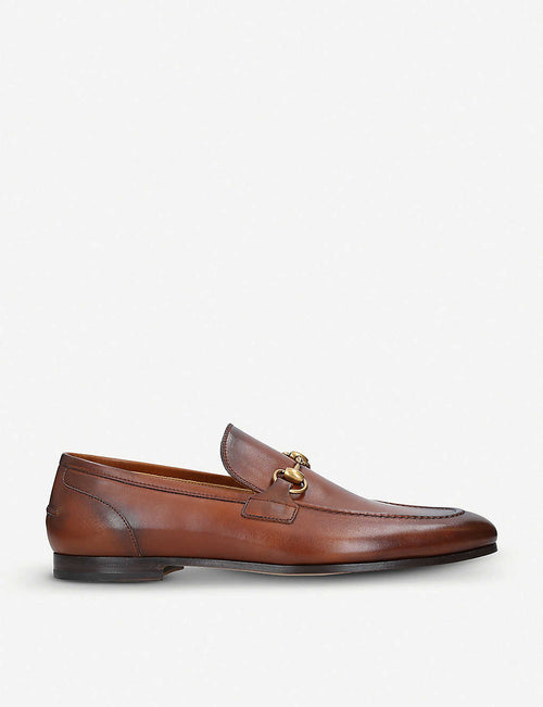 Jordan horsebit-detail leather loafers