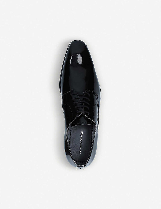 Shadow patent-leather Derby shoes