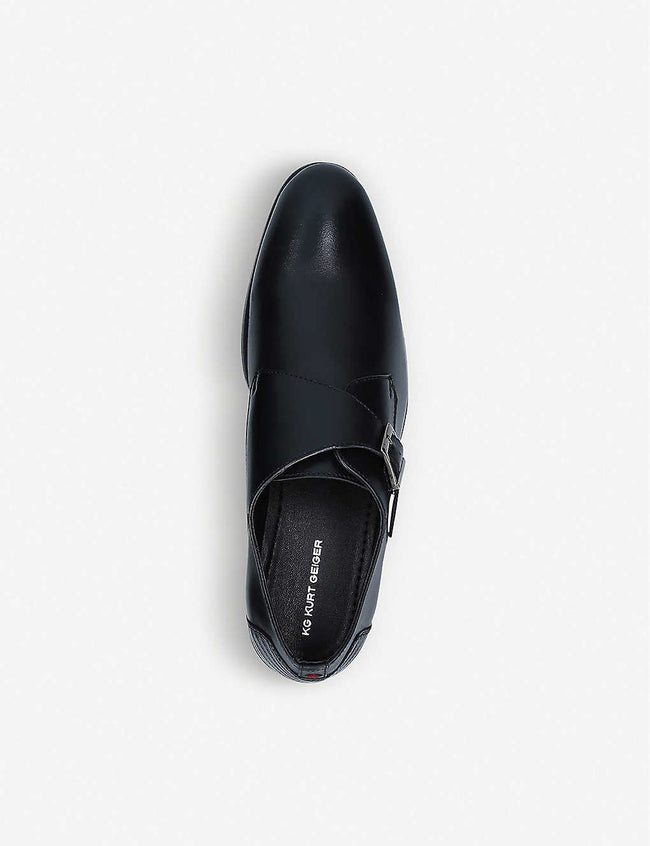 Seamus leather monk-strap shoes