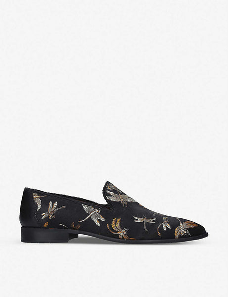 Squire floral-print slip-on loafers