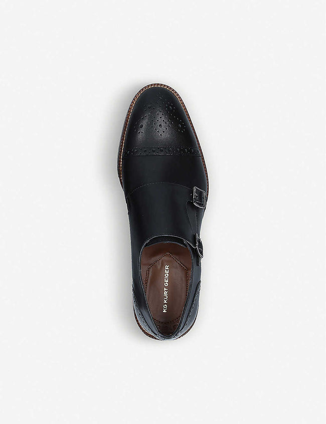 Skate double monk-strap leather shoes