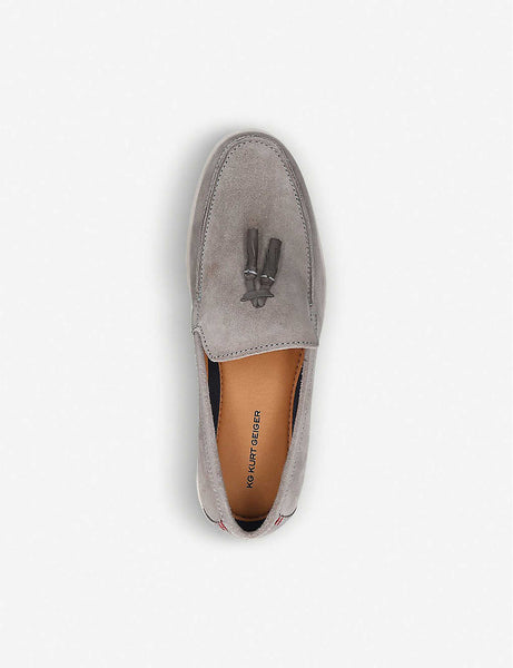 Onyx suede boat shoes