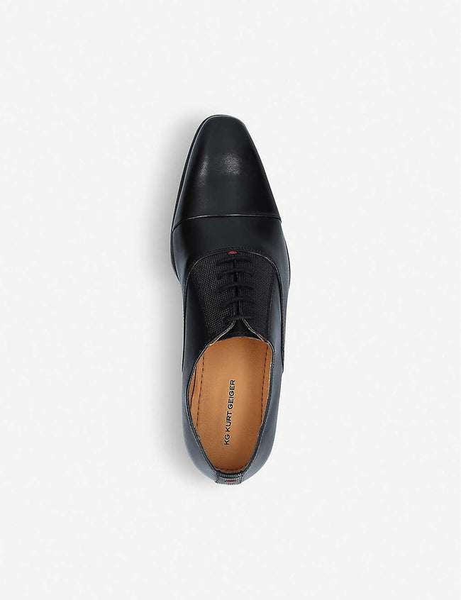 Sami trimmed leather Oxford shoes