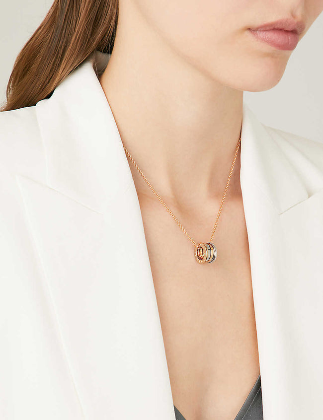 B.Zero1 18ct rose and white-gold necklace