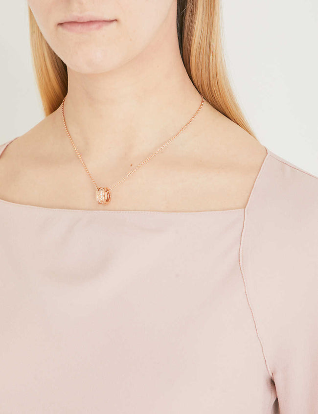 B.Zero1 18ct rose-gold and diamond necklace