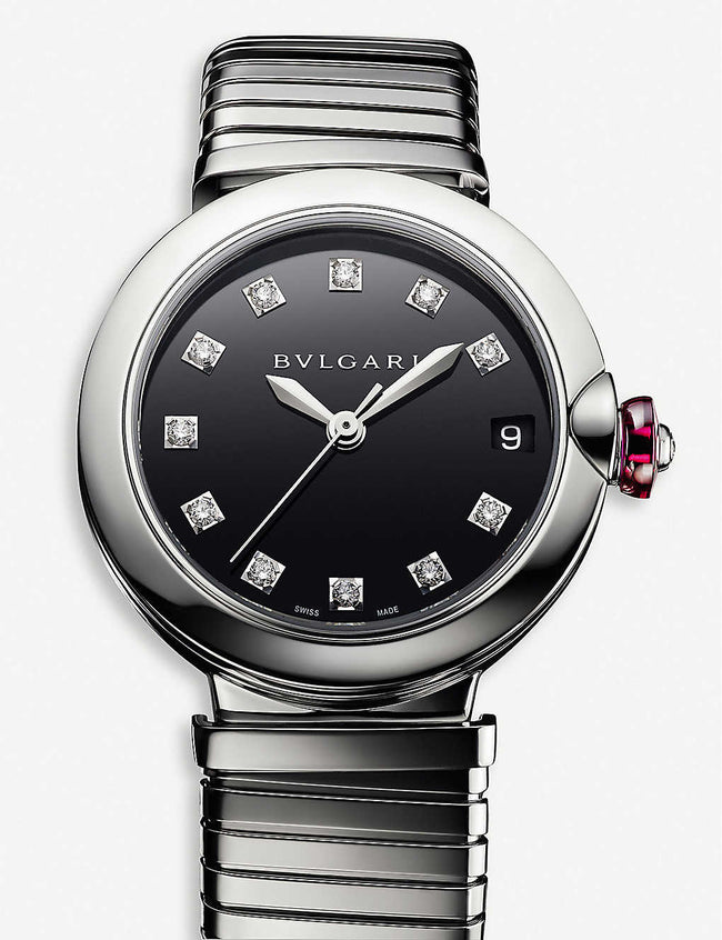 102951 LVCEA Tubogas stainless steel and diamond watch