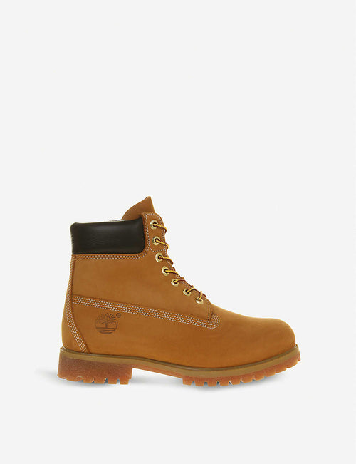 "Buck 6"" nubuck leather boots"