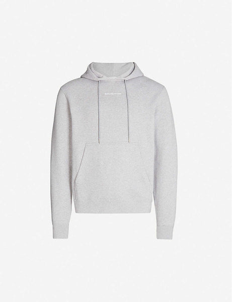Brand-embroidery cotton-jersey hoody