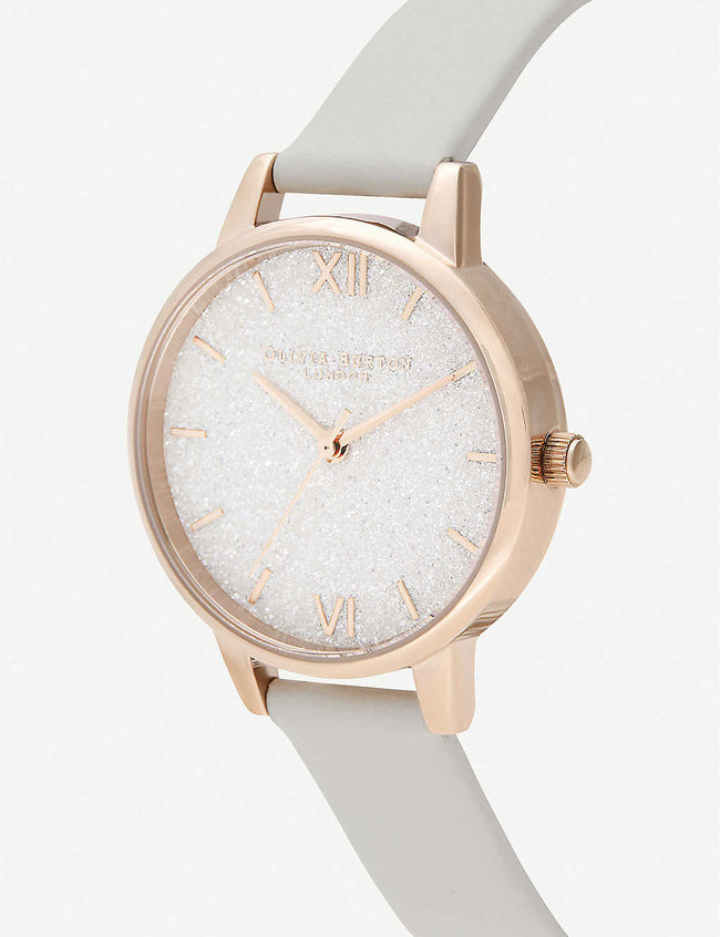 OB16GD50 Glitter Dial rose gold-plated watch