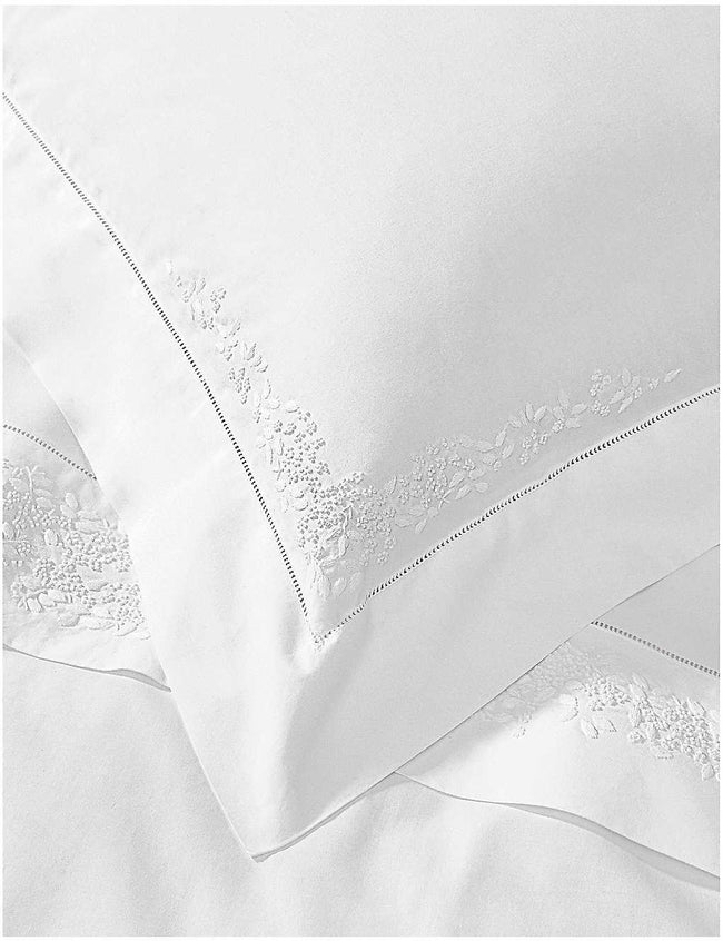 Adeline cotton percale square oxford pillowcase