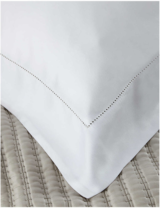 Connaught cotton and silk-blend Oxford pillowcase 65cm x 65cm