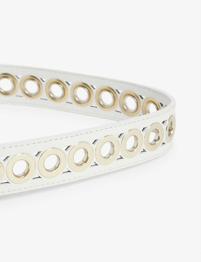 Adelia studded leather belt