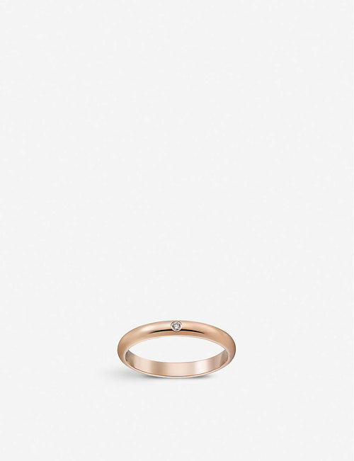 1895 18ct rose-gold and diamond wedding ring
