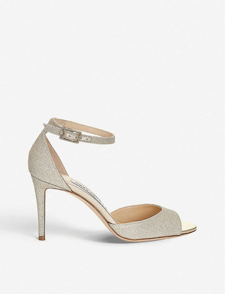 Carrie 100 suede heeled sandals