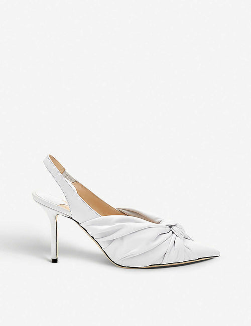 Annabell 85 patent leather slingback pumps